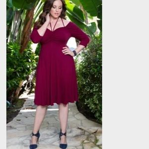 ❗️❗️Kiyonna 3X NWOT Raspberry Dress